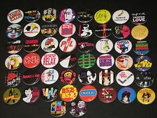Assorted 80's New Wave Buttons /  Pins 50