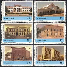 Zimbabwe 1990 Harare/Court/Bank/Buildings/Architecture 6v set (n40228)