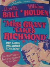 """LUCILLE BALL AND WILLIAM HOLDEN - """"MISS GRANT TAKES RICHMOND"""" MOVIE POSTER"""