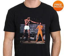Bruce Lee and Kareem Abdul Jabbar Vintage T-Shirt Tee Men's size :Size:XS-to-XXL