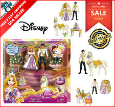 NEW Disney Princess Rapunzel Wedding Party Set Magic Clip Rapunzel Eugene Dolls