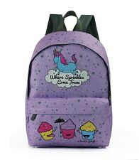 DAVID AND GOLIATH - UNICORN/CUPCAKE SPRINKLES SCHOOL BACKPACK - LILAC