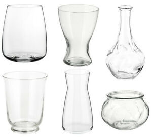 ikea Clear Heavy Glass Flower Vase Decoration Home Wedding Decor candle holder