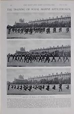 1897 BOER WAR ROYAL MARINE ARTILLERYMEN PHYSICAL DRILL FIELD GUN NAVAL EASTNEY