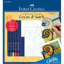 Faber-Castell Watercolor Canvas Art Circles and Swirls (#800122) New