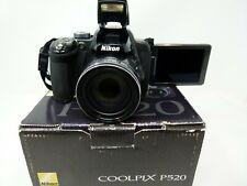 Nikon COOLPIX P520 18.1MP Digital Camera - Dark Silver-Used