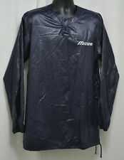 LOT 20 Vintage Mizuno Polyurethane wet look pvc pullover baseball Jackets Black