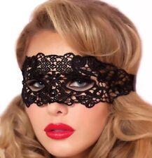 Venezianische Augenmaske Maskenball Gothic schwarz Spitze Erotik Karneval P133