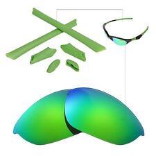 a7e4c76e81 Walleva Polarized Emerald Lenses and Rubber Kit for Oakley Half Jacket
