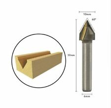 """CNC 60°Router Engraving Wood Working 3D V Groove Bit 6x10mm 1/4"""" Cutter Tools"""