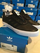 Adidas Adi-ease ELORIDGE 1 Mens 10 Shoe black leather black stripes trefoil