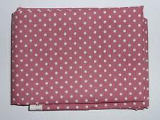 1 fat quarter in cotton poplin with 3mm ecru spots on dusky pink background