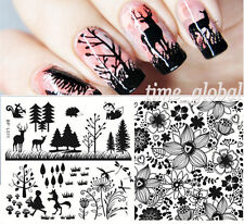 Born Pretty Nail Art Stamping Template Image Plate Tree Flower Animal Bp-l011