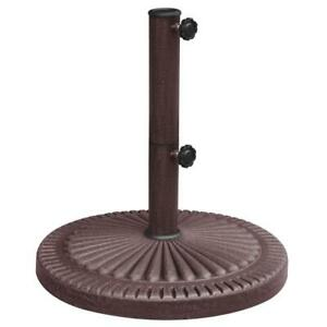 Patio Umbrella Stand 66 lb. Corrosion Resistant Weighted Resin Textured Bronze