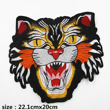 Angry Cat/Tiger Embroidered Sew On Fashion patch DIY Clothing Jacket Applique