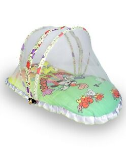 Foldable Baby Bedding Set With Mosquito Net(1Mattress&Pillow)For 0-12Months Baby