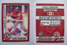 2015 SCA Gary Simmons Barons goalie never issued produced #d/10 rare