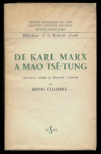 HENRI CHAMBRE, DE KARL MARX À MAO TSÉ-TUNG INTRODUCTION MARXISTE LÉNINISME