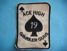 "VIETNAM WAR PATCH, US B Co. 4th AVIATION BN, 4th INF DIVISION. "" GAMBLERS GUNS """