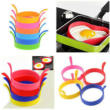 4pcs Kitchen Cooking Silicone Fried Oven Poacher Pancake Egg Poach Ring Mould PS