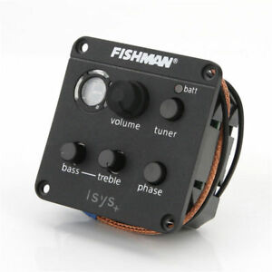 FISHMAN ISYS+  Guitar Pickup Piezo onboard Preamps EQ Tuner Equalizer