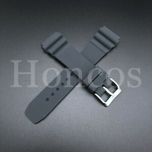 NEW 22MM GRAY RUBBER STRAP Z22 FITS SEIKO SKX007 / 7002 / 6309 DIVER'S WATCH