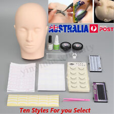 Mannequin Training Flat Head Make Up Cosmetology Practice Eyelash Extensions Set