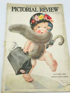 Jan 1921 PICTORIAL REVIEW Magazine Dolly Dingle Paper Dolls, Twelvetrees Cover