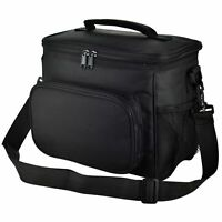 10L Reusable Insulated Lunch Bag Office Work School Beach Picnic Tote+5 Ice Bags