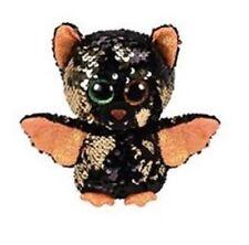 "2019 TY Halloween 3"" Mini Flippables OMEN the Bat Beanie Boos Sequin Plush MWMTs"