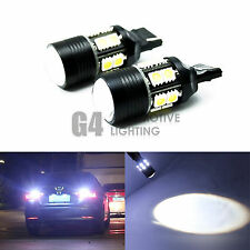 2x CREE 7W 7440 LED Bulbs 5050 SMD Back up Reverse Light Xenon White + Projector