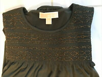 Michael Kors Womens Shirt Top Blouse Cold Shoulder Green Size Medium PRETTY!