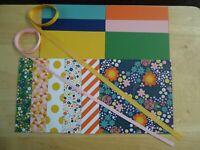 "Stampin Up!  FLOWER POT 6 X 6"" Designer Paper Card Kit Ribbon"