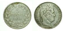 pcc1601_11) FRANCIA 5 francs Louis Philippe I 1844  W -  LILLE