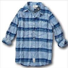 5181de1f1b Nuevo con Etiqueta Hollister By Abercrombie Cuadros Cotton-Linen Camisa  Verde
