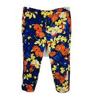 Great Plains London Womens Pants Size 12 Retro Design Floral Multicoloured