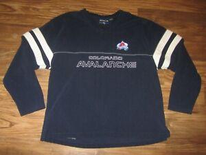 NHL Colorado Avalanche Mens Heavy Shirt, Blue, Blueline, Size XL, EUC