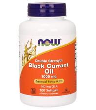 Black Currant Oil 1000 mg 100 softgels by NOW Foods (Blackcurrant)