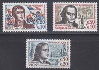 France 1963 MNH Mi 1439-1441 Sc B371-B373 Composer,chemist,poet  Red Cross