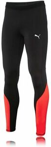 Puma Men's Pants Speed Long Tights, Black Black / Red Blast, S