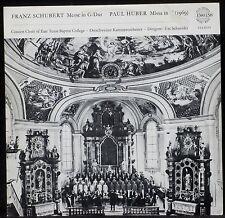 Schubert Messe in G dur Paul Huber Missa in C Urs Schneider LP NM -, CV EX