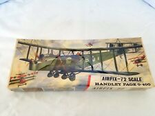 Vintage Airfix 72 scale Handley Page 0-400 airplane model factory sealed