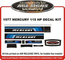 1977 MERCURY 115 HP Outboard Reproduction Decal Kit