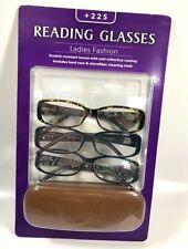 Icon Contemporary Ladies Fashion 3-Pk Reading Glasses +225 - New, Box damaged!