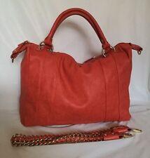 Large MARIKAI Orange Faux Leather Tote/Hobo/Shoulder Bag / Handbag