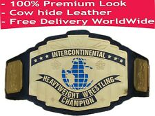 WWE Black Intercontinental Championship Replica Title Belt Leather Premium Look