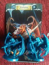 Drakonian 2x figuras espadas & Sorcery Kickstater Boardgame Dragon hombres monstruos