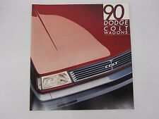 1990 Dodge Colt Wagon Vista DL FWD 4WD Original Sales Brochure Catalog