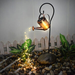 Creative LED Watering Can String Light Solar Powered Outdoor Garden Decor Lamp