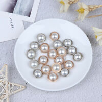 10pcs Pearl Metal Shank Buttons for Sewing Scrapbooking DIY Craft Decorat Nd